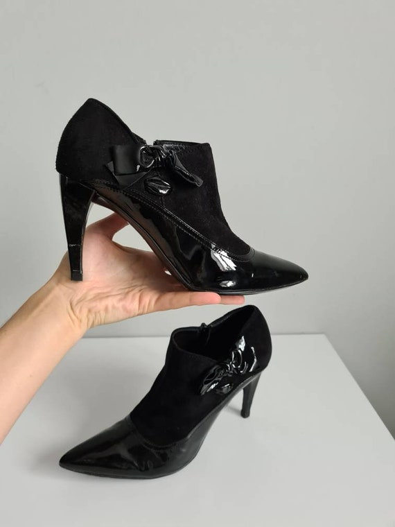 Miu Miu boots, leather shoes, patent leather shoes