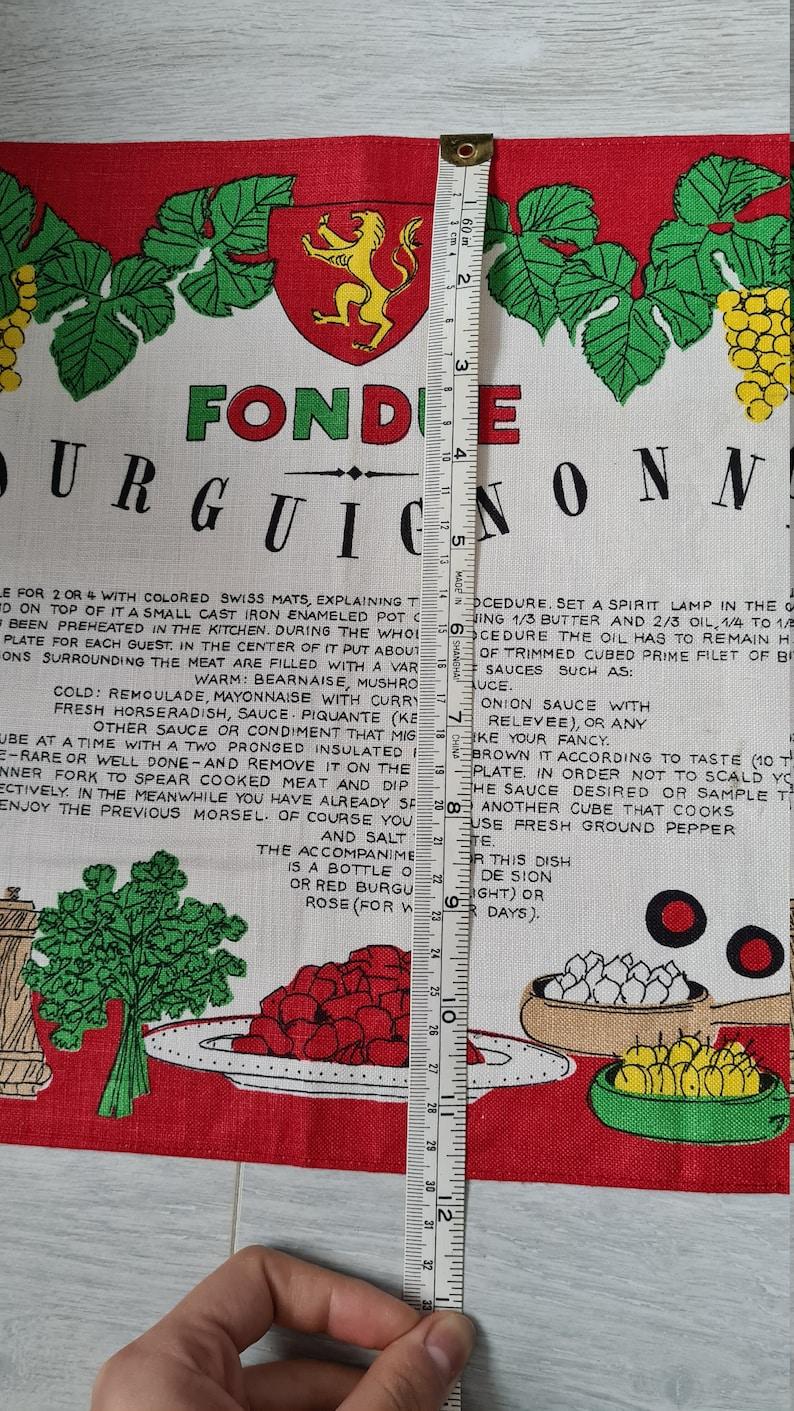 Fondue towel New vintage Kreier linen tea towel made in Switzerland