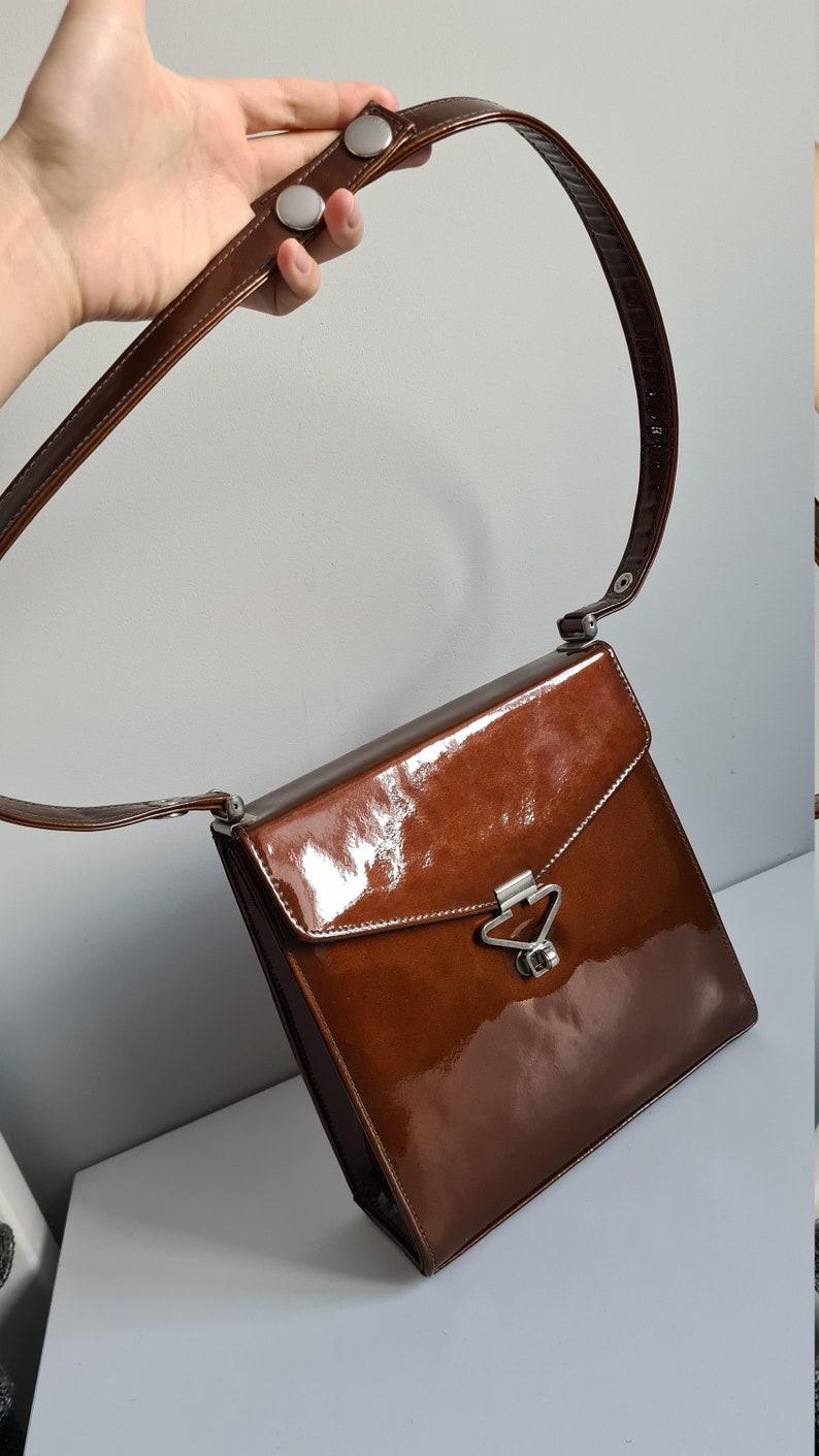 genuene leather by MacLaren Norvich England Mac Laren vintage bag