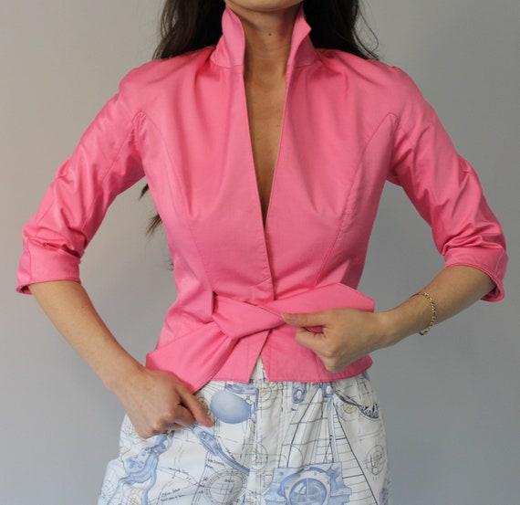 Thierry Mugler pink jacket