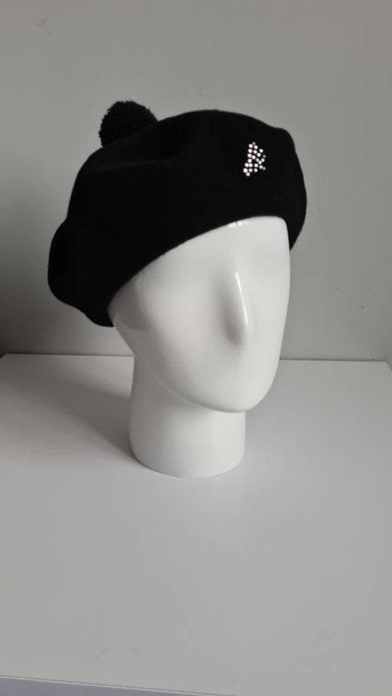 Sonia Rykiel Paris wool black beret,  vintage hat