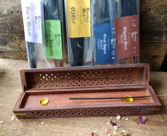 Arachne's Web Incense Sampler, Incense Chest Burner with Incense, Incense Storage, Burner and Incense