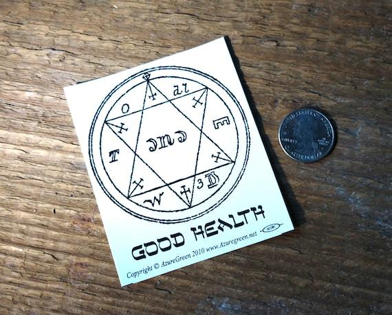 Good Health Sticker, Kabbalah Good Health Sigil Car Sticker, Good Health Symbol Bumper Sticker, Witchy Stocking Stuffer