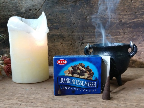 Hem Frankincense and Myrrh Incense, Witch's Incense, Mystical Incense, Myrrh and Frankincense Cones, Hem Incense