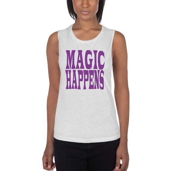 Magic Happens Tank, Tank Top with No Pentagram, Magic Tank, Witchy Tank, Witchy Clothes, Pagan Tank, Magic Tank
