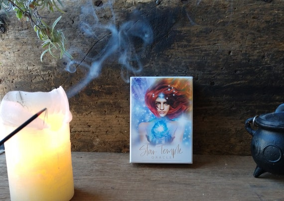Star Template Oracle, Witches Oracle Deck, Divination Deck, Witchy Oracle Cards