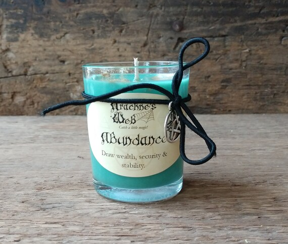 Abundance Candle, Hand Poured Soy Candle, Money Spell Candle, Witchcraft Candle