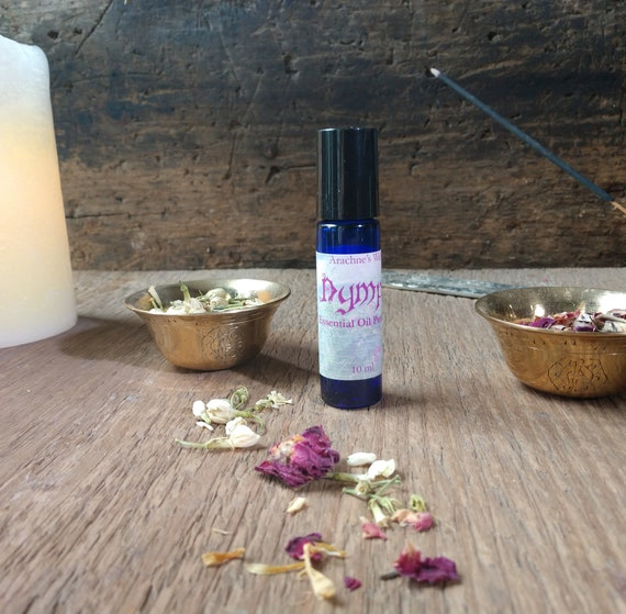 Nymph Perfume, Essential Oil, Blended Essential Oil Perfume, Floral Scent, Witchy Perfume