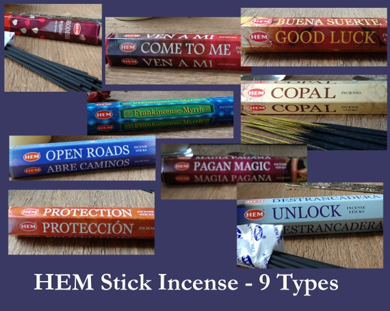 CLOSEOUT: Large Stick Incense Box with selection of 9 kinds of HEM Incense!