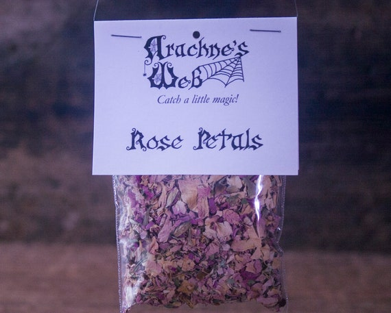 Pink Rose Petals for Magic, Roses for Love and Romance, Witch's Rose Petals, Pink Rose Petals, Love Magic Herbs, Spell Components