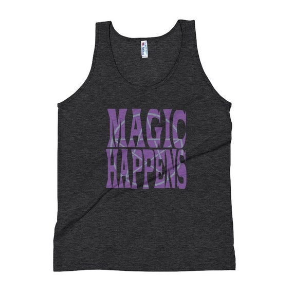 Magic Happens Unisex Tank Top with Pentagram, Magic Tank, Witchy Tank Top, Pagan Tank Top, Magical Clothing, Witchy Summer Clothes