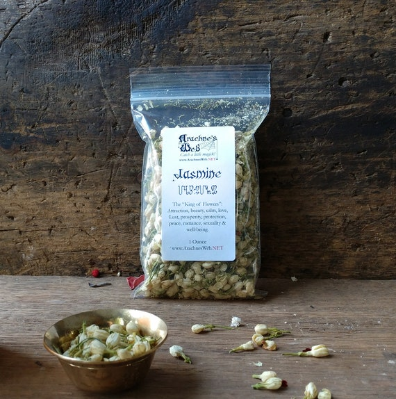Jasmine Flowers for Magic, Jasmine Flowers for Romance, Witch's Jasmine Flowers, Jasmine Buds, Love Magic Herbs, Spell Components
