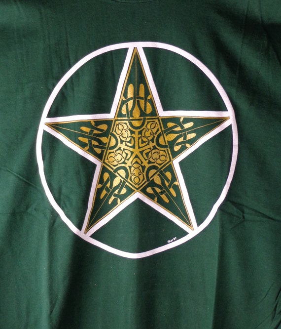 Celtic T-Shirt, Celtic Pentagram Tee, Celtic Pentacle Tee, Original Celtic Art T-Shirt