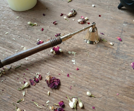 Candle Snuffer, Wood and Brass Candle Snuffer
