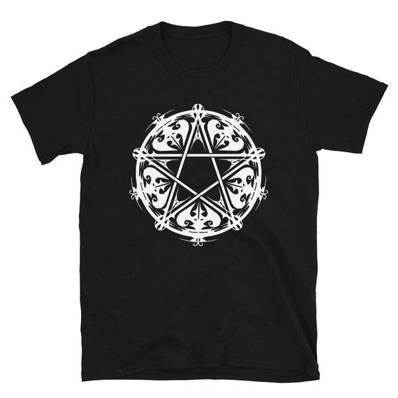 Victorian Pentagram Short-Sleeve Unisex T-Shirt, Original Design Pagan Tee, Unique Pentagram Design Tee,