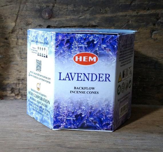 Hem Lavender Backflow Incense, Waterfall Incense Cones, Lavender Incense for Backflow Burners