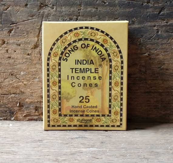 Song of India, India Temple Incense, Witch's Incense, Mystical Incense, India Incense Cones, Song of India Incense, Sacred Incense