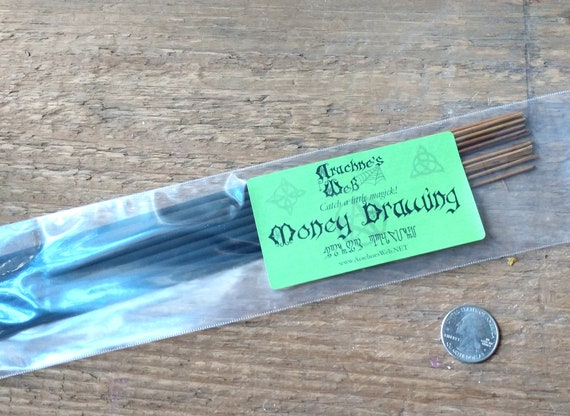 Money Drawing Incense, Stick Incense, Witch's Incense Sticks, Pagan Incense, Wiccan Incense, Prosperity Incense