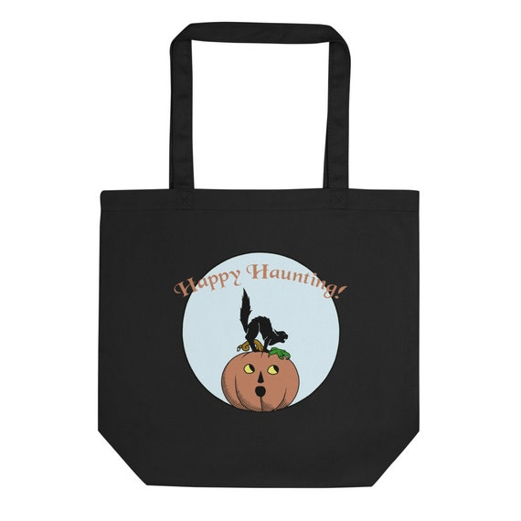 Halloween Eco Tote Bag for Spooky Shopping or Trick-or-Treat