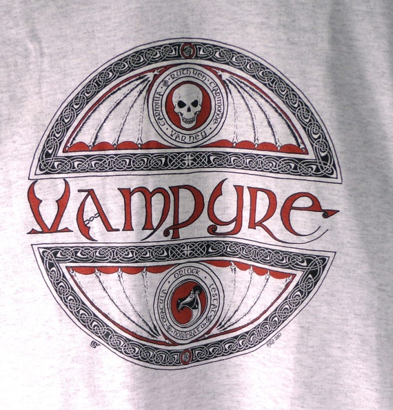 Vampire T-Shirt, Original Art Vampire Tee, Original Vampire T-Shirt, Gothic Vampire T-Shirt, Original Marcel R. Dion Tee
