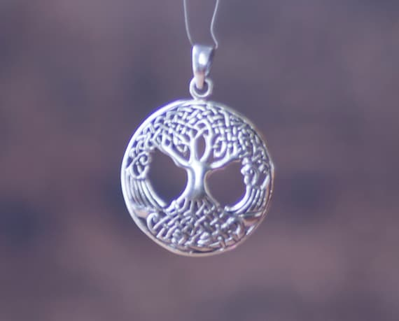 Sterling Silver Celtic Tree of Life Pendant, Tree of Life Pendant, Witch's Tree of Life, Sterling Tree of Life