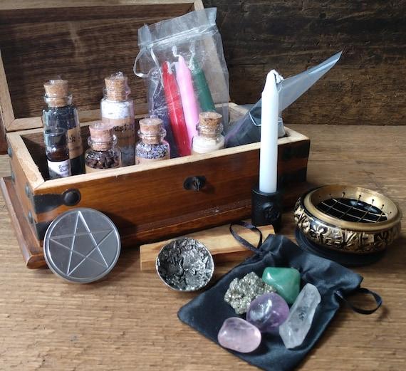 Altar Kit, Travel Witch's Altar, Witch's Complete Altar set, Beginner Witch Altar with Tools, Starter Altar Kit, Broom Closet Altar Kit
