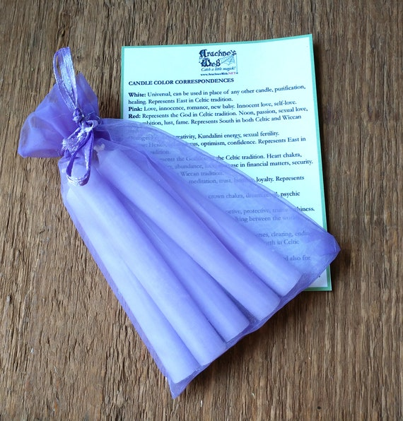 Lavender Chime Candles, Chime Ritual candles, Candle magic, witchcraft candles, witchcraft tools, chime spell candles, lavender candles