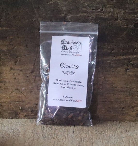 Cloves for Magic, Cloves for Luck and Money, Witch's Cloves, Whole Cloves, Abundance Magic Herbs, Spell Components, Cloves for Cooking