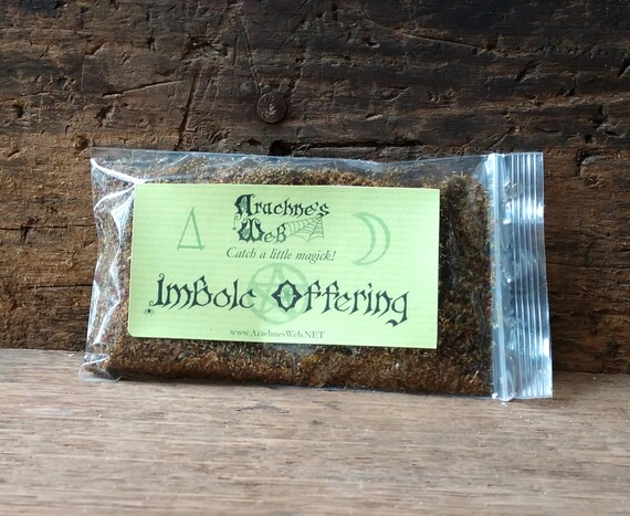 Imbolc Offering Herbs, Imbolc Incense, Handcrafted Imbolc Offering, Herb and Essential Oil Incense