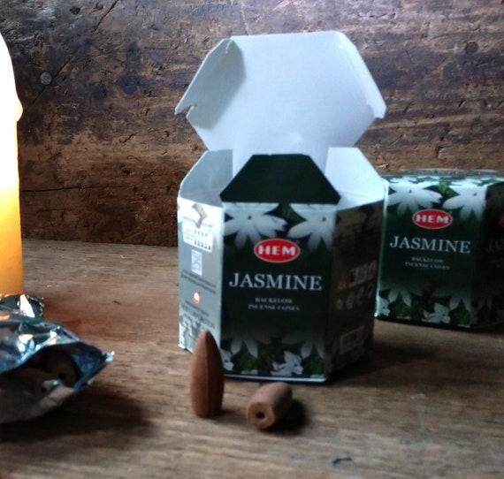 Jasmine Backflow Incense, Waterfall Incense Cones, Jasmine Incense for Backflow Burners