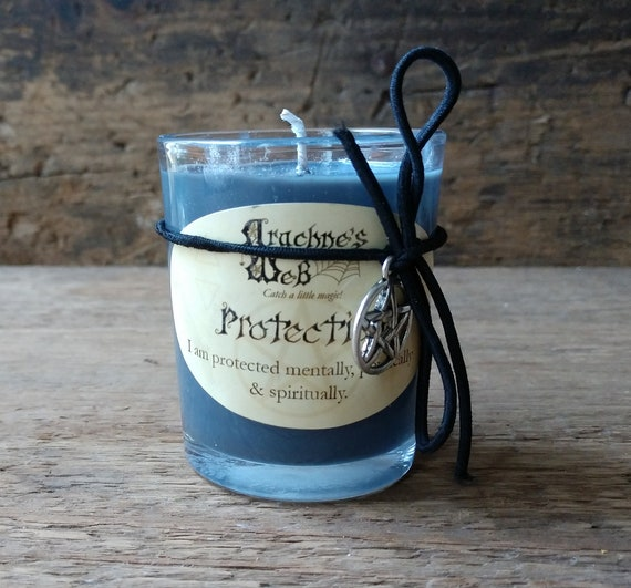 Protection Candle, Hand Poured Soy Candle, Protection Spell Candle, Witchcraft Candle