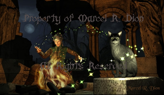 Witchy Magic Print, Witch Casting Spell, Spooky Witch Print, Witchy Decor, Magic Themed Picture