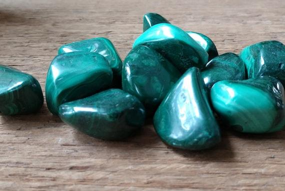 Tumbled Malachite, Green Stone for Money and Heart Chakra, Malachite Smooth Stone, Witch's Malachite for Magick