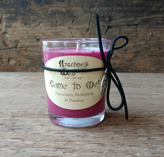 Come to Me Candle, Hand Poured Soy Candle, Seduction Spell Candle, Witchcraft Candle