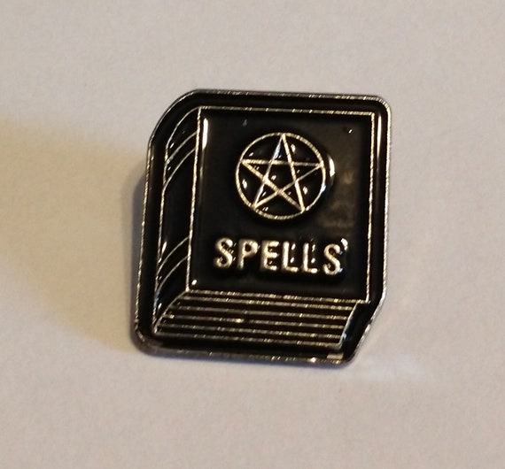 Spells Book Enamel Pin, Lapel Pin, Witches Pin, Witchy Enamel Pin, Spell Book Pin