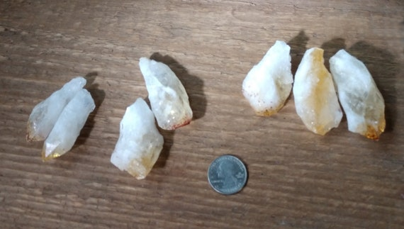 Citrine Points, Citrine Dragon's Teeth, Long Rough Points, Natural Citrine Points