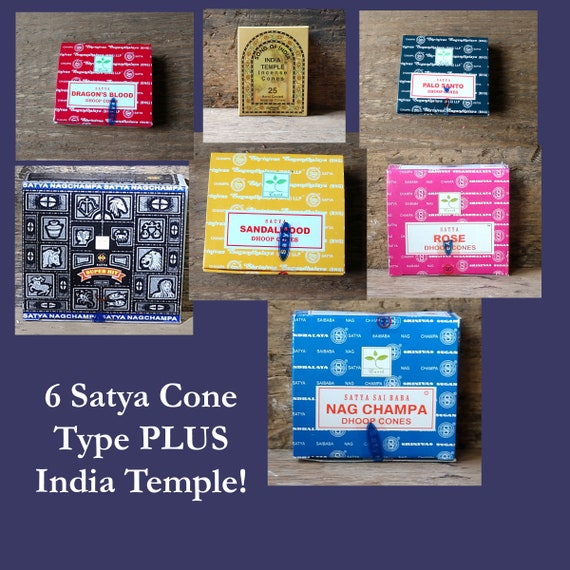 CLOSEOUT: Satya Incense Package with Pretty Tibetan Silver Burner
