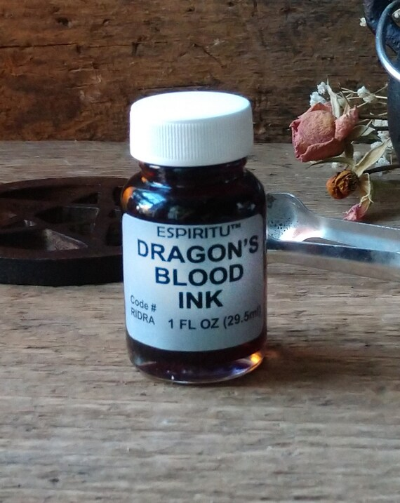 Dragon's Blood Ink, Witch's Ink, Herbal Ink, Ink for Spells, Ink for Witchcraft, Magic Ink