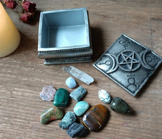 Witches Starter Series, Stone Collection 2, Witchy Box with Mixed Stones and Crystals