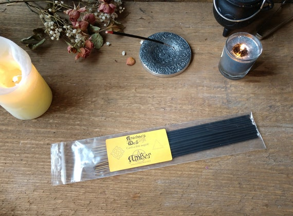 Amber Incense, Stick Incense, Witch's Incense Sticks, Pagan Incense, Wiccan Incense