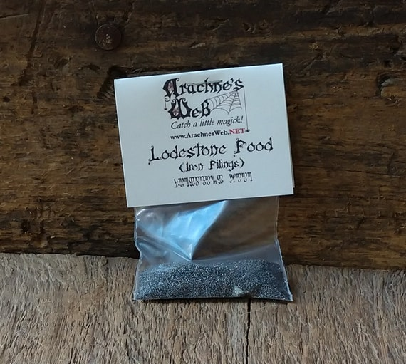 Lodestone Food Magick, Witch's Iron Filing for Lodestones, Lodestone Food for Money Spells, Lodestone Food for Attraction Magick