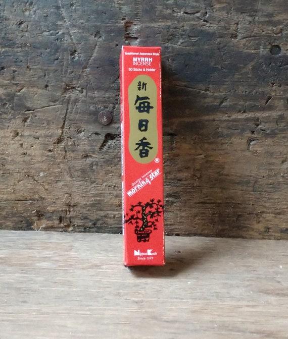 Morning Star Myrrh Incense, Incense Sticks, Japanese Incense, Morningstar Myrrh