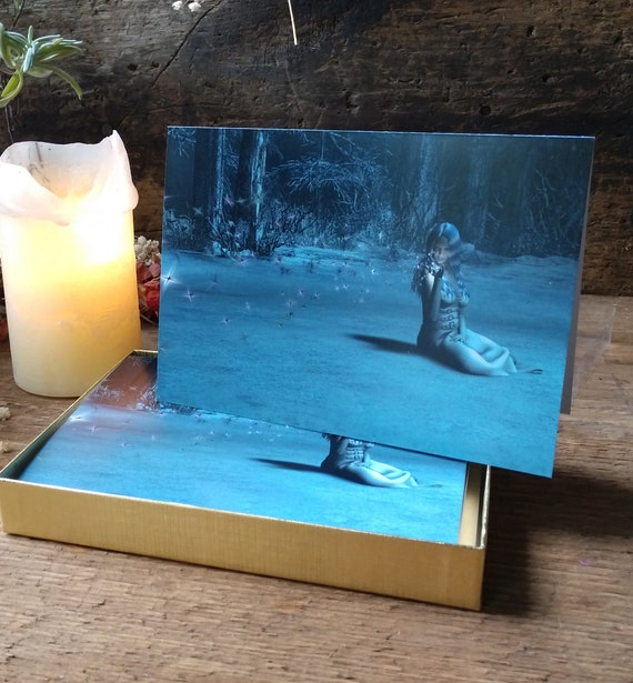Winter Cards, Pagan Holiday Cards, Witchy Yule Cards, Box of Wintery Cards, Original Art Cards
