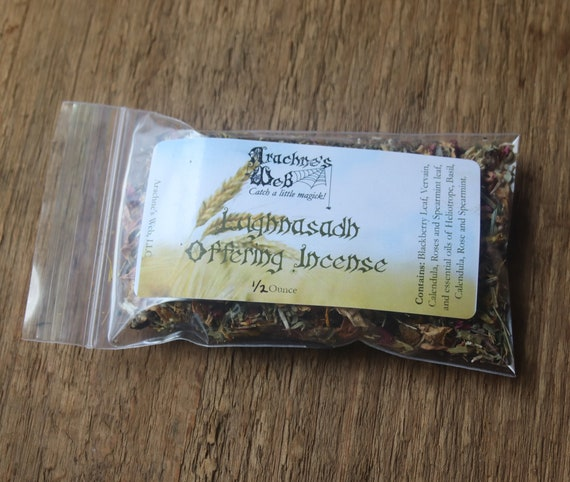 Lughnasadh Offering Incense, Lughnasadh Incense, Handcrafted Lughnasadh Offering, Herb and Essential Oil Incense, Witchy Incense