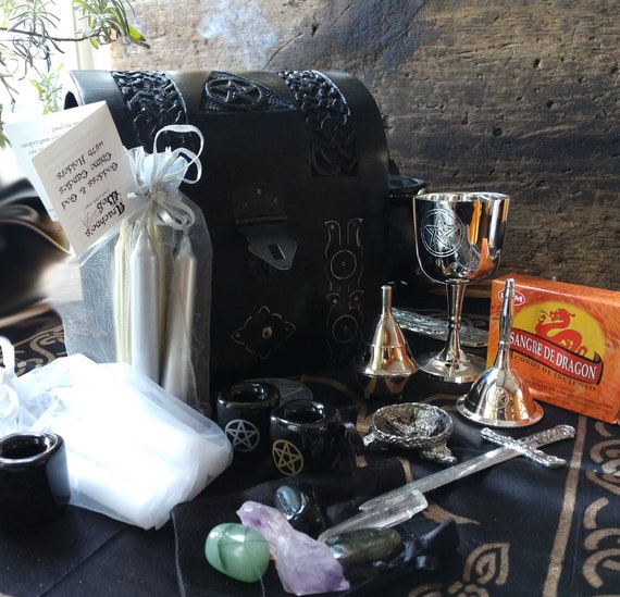 Travel Altar, Witches Mini Altar, Witchy Secret Altar, Witchy Travelling Altar Kit, Broom Closet Altar Set, Witchcraft Altar Set
