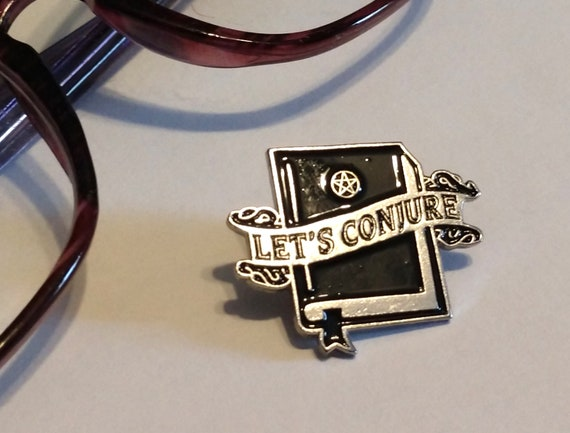 Let's Conjure Enamel Pin, Lapel Pin, Witches Pin, Witchy Enamel Pin