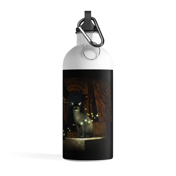 Magic Water Bottle, Witches Stainless Steel Water Bottle, Original Art Water Bottle