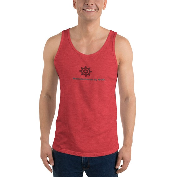 Unisex Tank Top: Manufactured by God