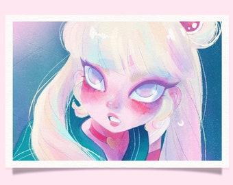 Sailor Moon Fan Art Print – 6x4