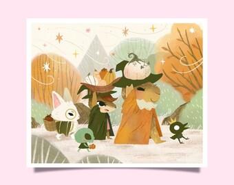 Fall Festival – Art Print 6.5 x 5.5 inches